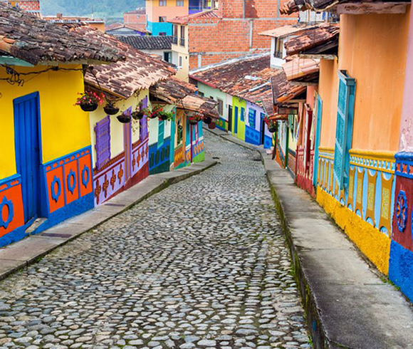 Traditional colombian street